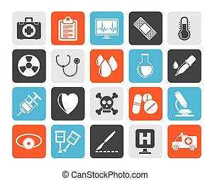 medical tools icons