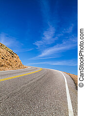 Highway Curve to the Sky - Alpine mountain highway that...