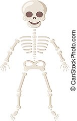 Spooky smiling skeleton. - Halloween party design element....