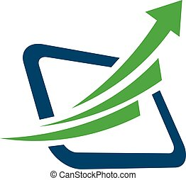 arrow marketing logo - arrow and finance marketing Elegant...