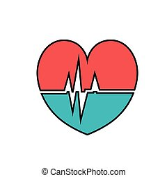 heart cardiology isolated icon