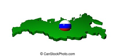 Russian flag sphere with map
