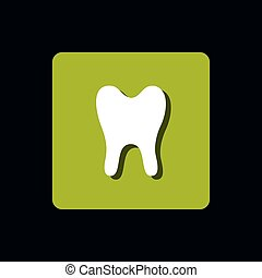 tooth human isolated icon