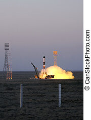 Russian Progress Spacecraft Launch - BAIKONUR, KAZAKHSTAN,...
