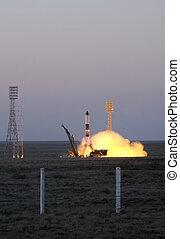 ruso, progreso, Nave espacial, lanzamiento