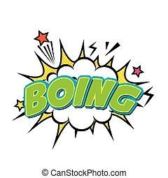 boing comic pop art style vector illustration design