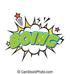 boing comic pop art style vector illustration design