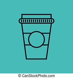 coffee glass container isolated icon