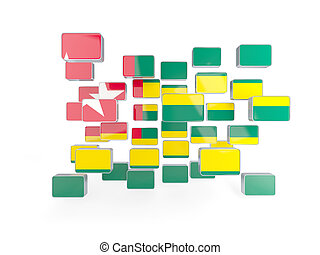 Flag of togo, mosaic background 3D illustration