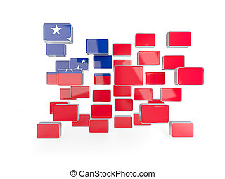 bandiera, di, Samoa, mosaico, fondo