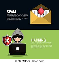 internet security information icon vector illustration...