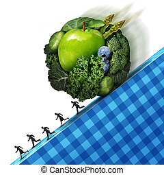 Healthy Eating Pressure - Healthy eating pressure as green...