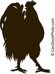 silhouette of the cock
