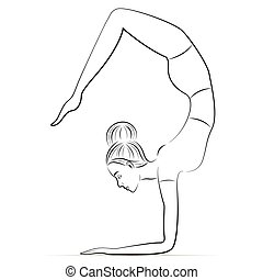Yoga in the scorpion pose