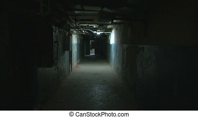 Corridor - Dark corridor tracking shot