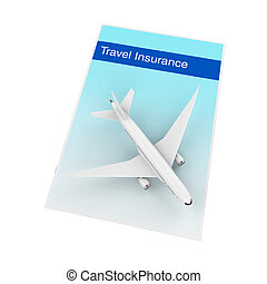 Travel Insurance Illustration isolated on white background....