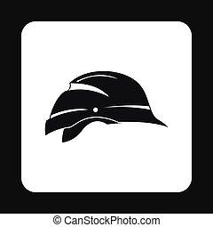 Construction helmet icon, simple style - Construction helmet...