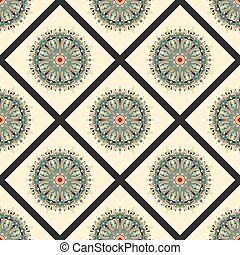 Mandala Tribal vintage ethnic pattern seamless pattern vector illustration