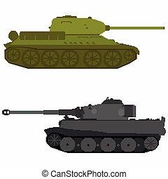 pixel art colored tanks