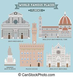 Famous Places of Florence, capital city of the Italian...