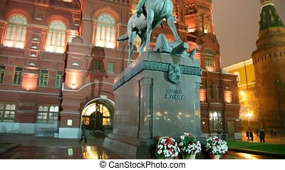 Monument to marshal of Soviet Union Georgy Zhukov, Moscow,...