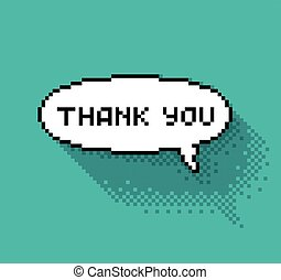 """bubble with """"thank you"""" - Text bubble with """"thank you""""..."""