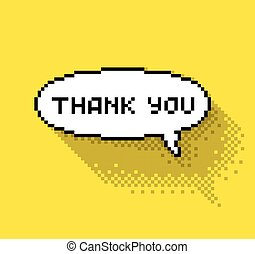 "bubble with thank you - Text bubble with ""thank you"" phase,..."