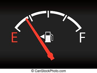 gas gage status - Gas gage isolated on a white background