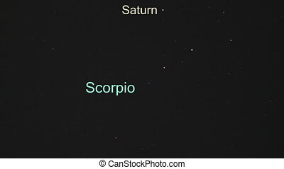 Scorpio, Saturn and Mars, view from Victoria Falls at 7:14PM...