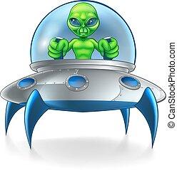 Alien UFO Flying Saucer