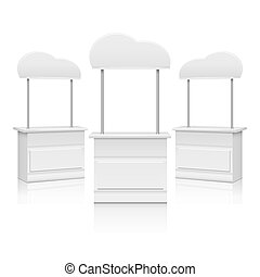 White blank promotion trade stand vector illustration