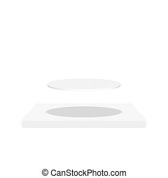 Round pedestal for display. - Pedestal for display. Platform...