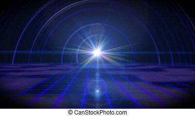 future floor ray light tunnel