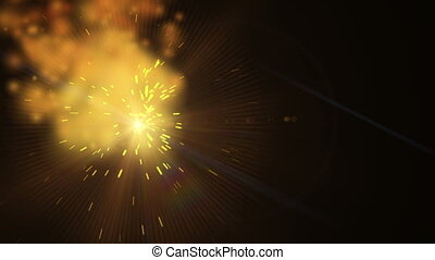 sparks light abstract
