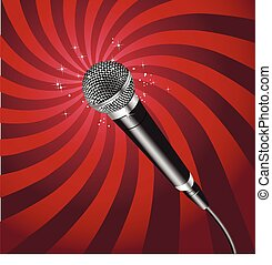 Microphone Rays vector 2