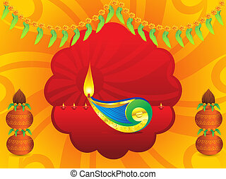abstract artistic indian celebration background