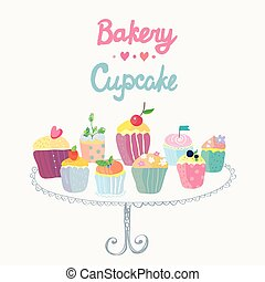 Cupcakes and bakery funny card