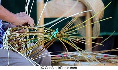 craftsman who builds basket