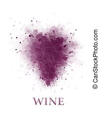 abstract wine grape - abstract violet wine grape bunch...