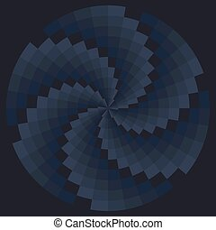 Color spiral pattern