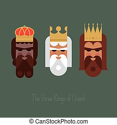 The three Kings of Orient wisemen vector illustration