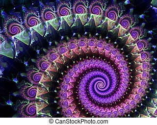 Fractal spiral background - abstract digitally generated...