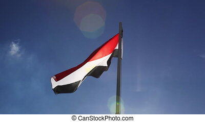 Flag of Egypt on a flagpole