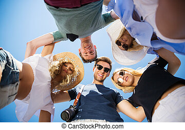 We are the best friends - A photo of group of happy friends...