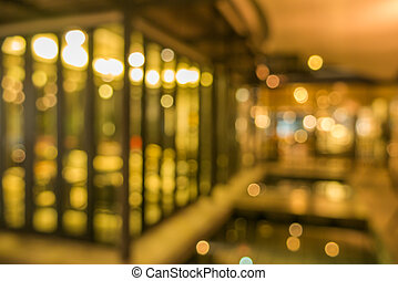 Blurred coffee shop light bokeh background