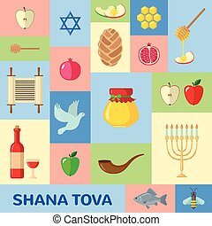 Rosh Hashanah greeting card. - Rosh Hashanah greeting card...