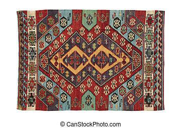 antigüidade, feito à mão, tapetes