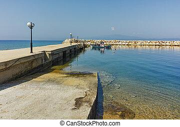 Skala Sotiros, Thassos - Amazing seascape of pier of Skala...