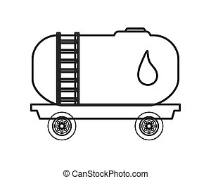 Fuel tanker truck or cistern truck icon - flat design Fuel...