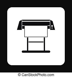Large format printer icon, simple style - Large format...